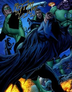 Green Lantern - Punches Batman