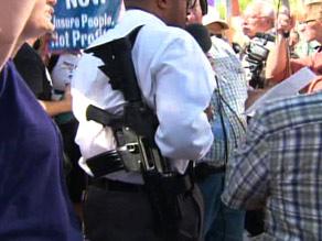 gun at rally