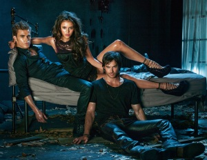 Nobody's ever just sitting up like normal people in CW promos.